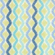 Moda Sunnyside  - 2857 - Teal and Aqua Zig Zag Stripes on White - 100% Cotton Fabric